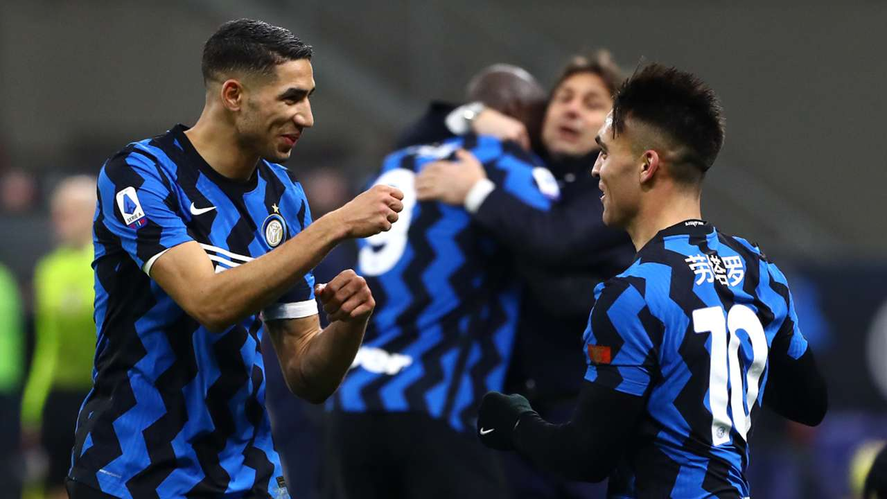 Achraf Hakimi Lautaro Martinez FC Inter Lazio Serie A 2020-21