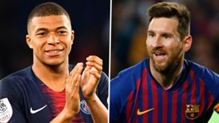Kylian Mbappe Lionel Messi 2018-19