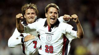 David Beckham Michael Owen England 1998 World Cup