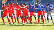Bandari players celebrate.