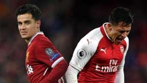Coutinho and Alexis Sanchez