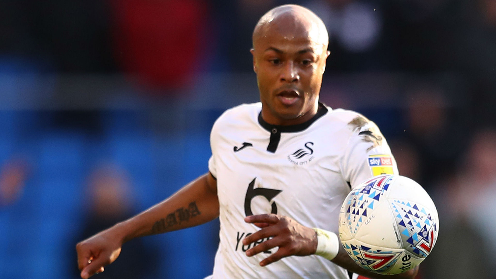 Andre Ayew's 10th Championship goal sends Swansea back into promotion spot