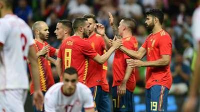 Koke Diego Costa Iago Aspas Spain Tunisia 09062018