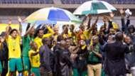 South Africa's Bafana Bafana celebrating
