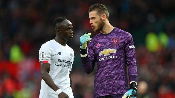 Sadio Mane David De Gea Manchester United Liverpool