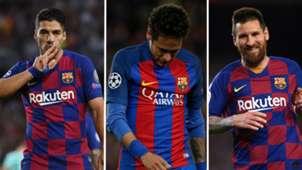 Suarez/Neymar/Messi split