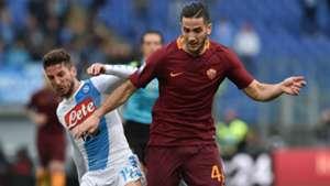 Dries Mertens Kostas Manolas Roma Napoli Serie A 2016-17