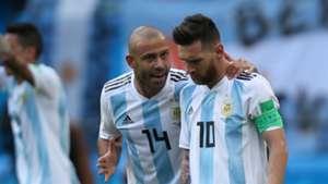 Javier Mascherano Lionel Messi Argentina France World Cup 2018 300618