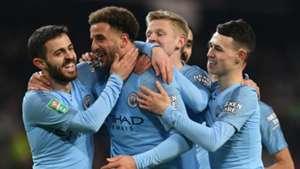 Kyle Walker Bernardo Silva Manchester City Burton Carabao Cup 2018