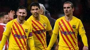 Lionel Messi Luis Suarez Antoine Griezmann Atletico Madrid vs Barcelona 2019-20
