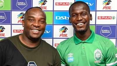 Benni McCarthy & Tapelo Xoki, AmaZulu FC, March 2021