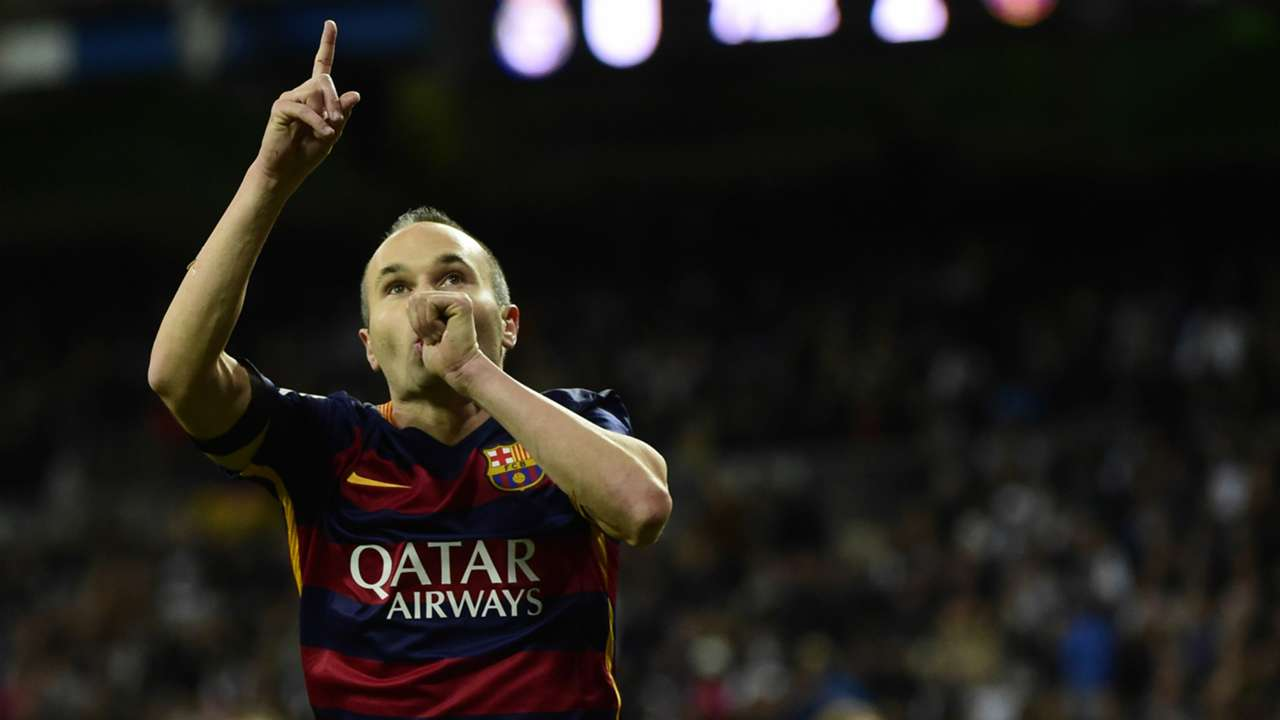 Andres Iniesta Real Madrid Barcelona La Liga 21112015