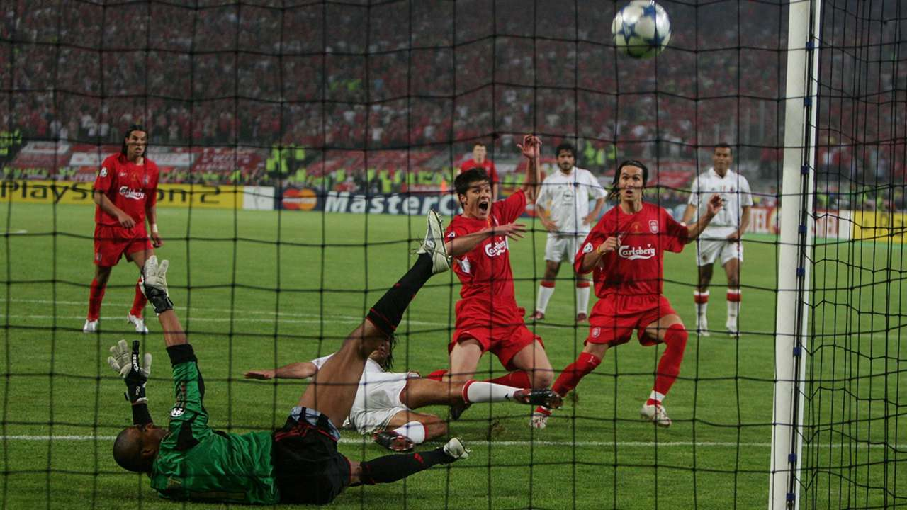 Xabi Alonso Liverpool AC Milan Champions League 2005