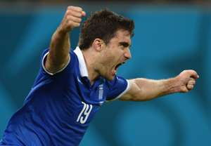 Sokratis Papastathopoulos Costa Rica Greece 2014 World Cup Last 16 29062014