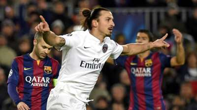 Zlatan Ibraimovic Paris Saint Germain Barcelona Champions League 10122014