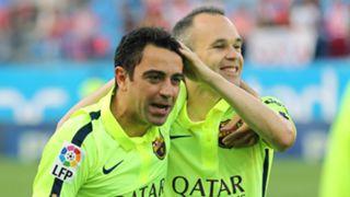 Xavi Andres Iniesta Barcelona 17052015