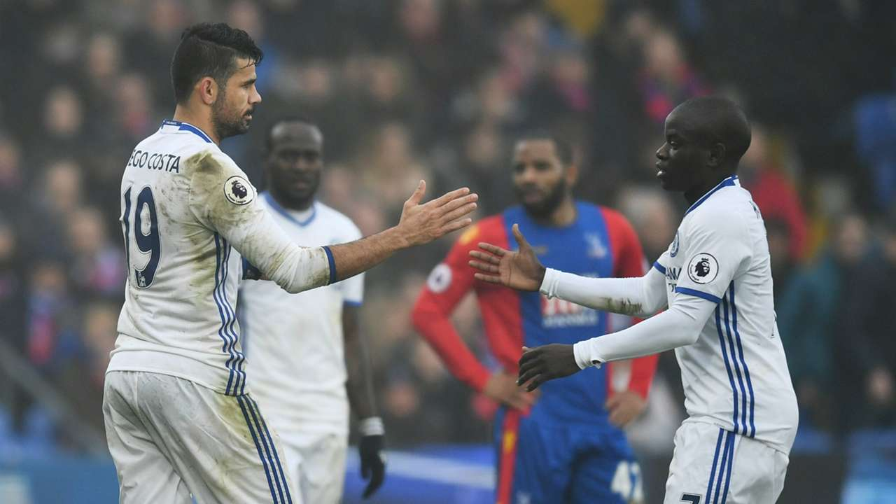 Diego Costa N'Golo Kante Chelsea 2016