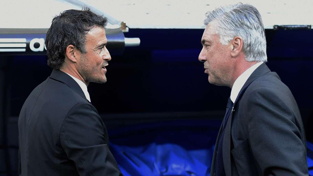 Luis Enrique Carlo Ancelotti Real Madrid Barcelona La Liga 25102014