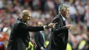Zinedine Zidane Carlo Ancelotti Real Madrid