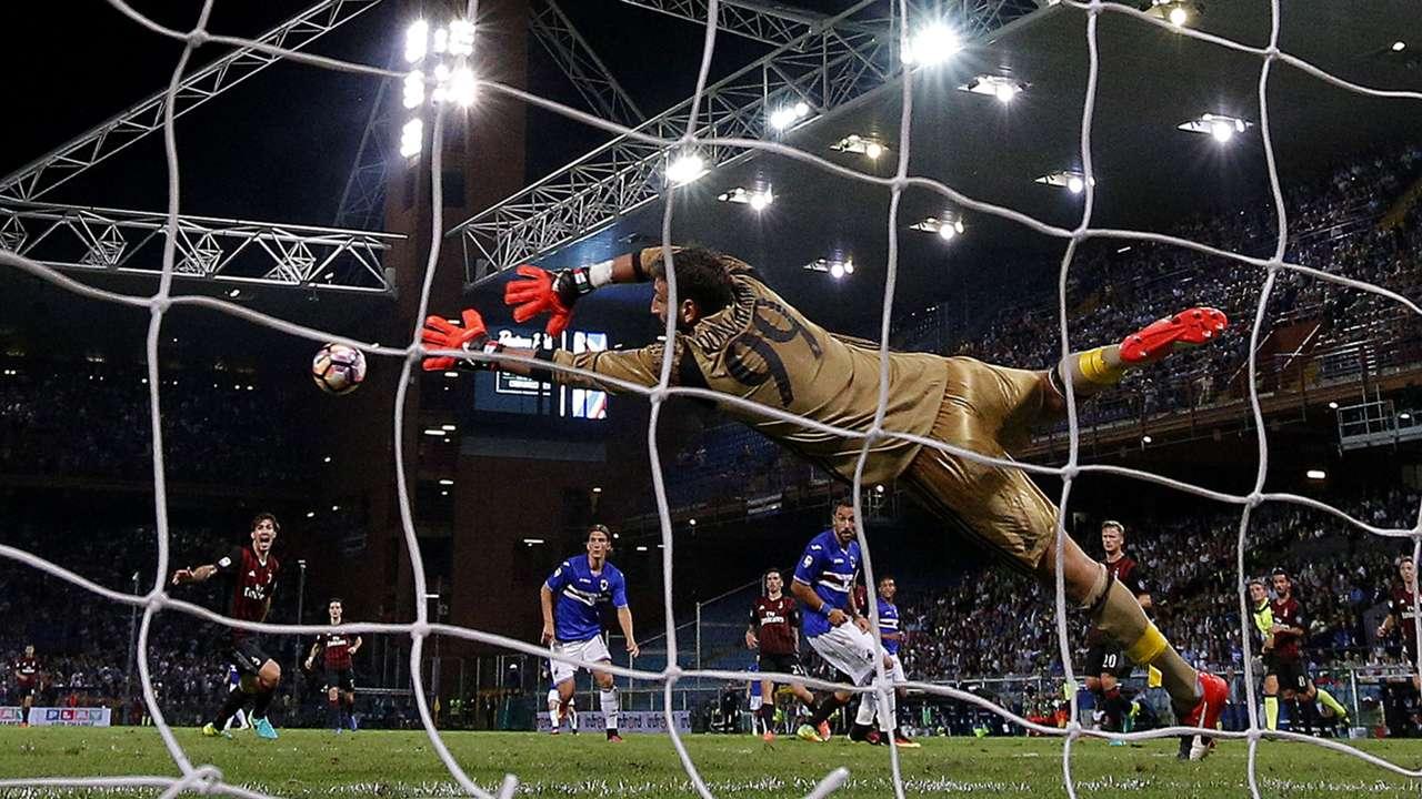 Gianluigi Donnarumma AC Milan Sampdoria Serie A