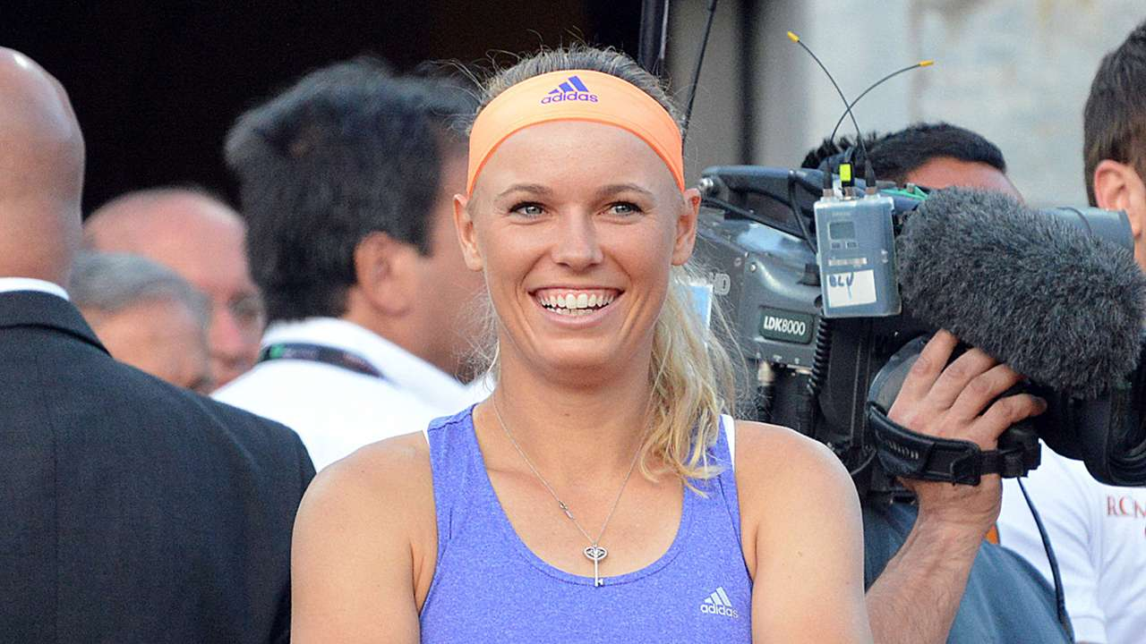 Caroline Wozniacky Tennis with the stars charity match