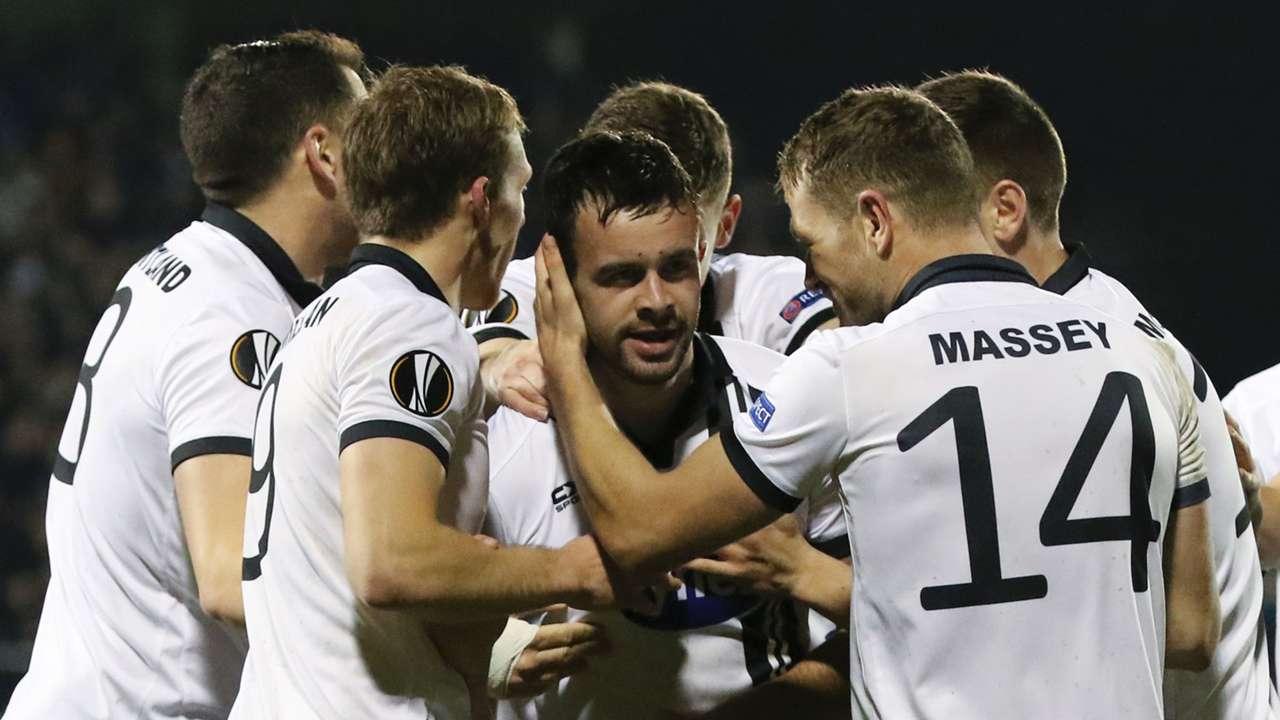 Dundalk celebrate Europa League