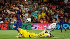 Lionel Messi Casillas Ronaldo Barcelona Real Madrid Supercopa 2011