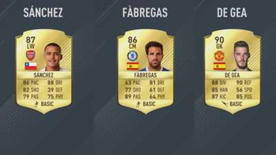 FIFA 17 Premier League card composite