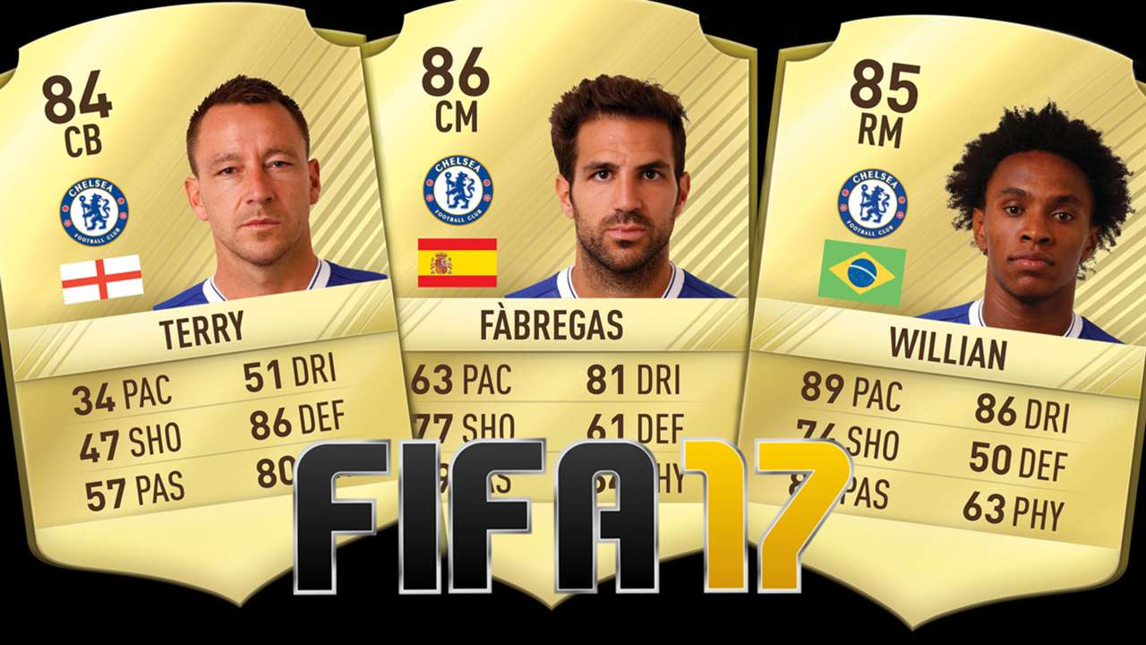Chelsea players FIFA 17 composite