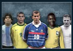 HOF Hall of Fame all Maradona Ronaldo Zidane Pele Puskas