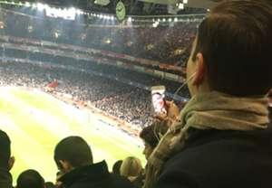 Arsenal fan FaceTime