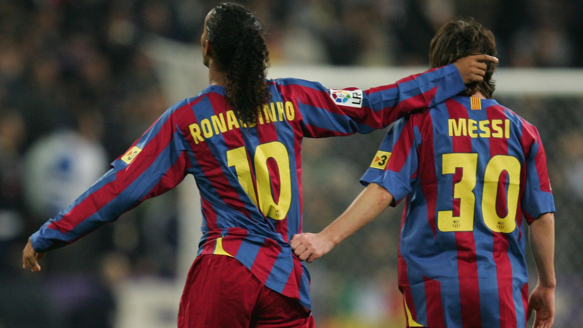 Lionel Messi Ronaldinho Barcelona Real Madrid 2005