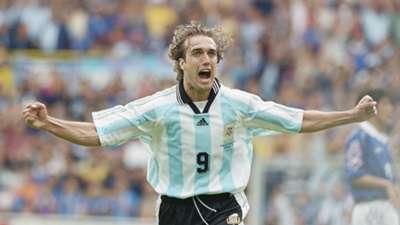 Gabriel Batistuta Argentina Japan 1998 World Cup