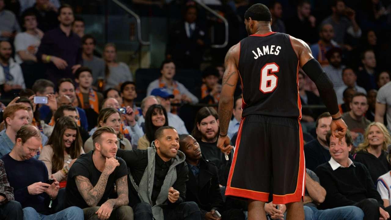 David Beckham Lebron James NBA 01022014