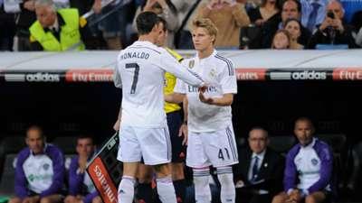 Cristiano Ronaldo Martin Odegaard Real Madrid Getafe La Liga 23052015
