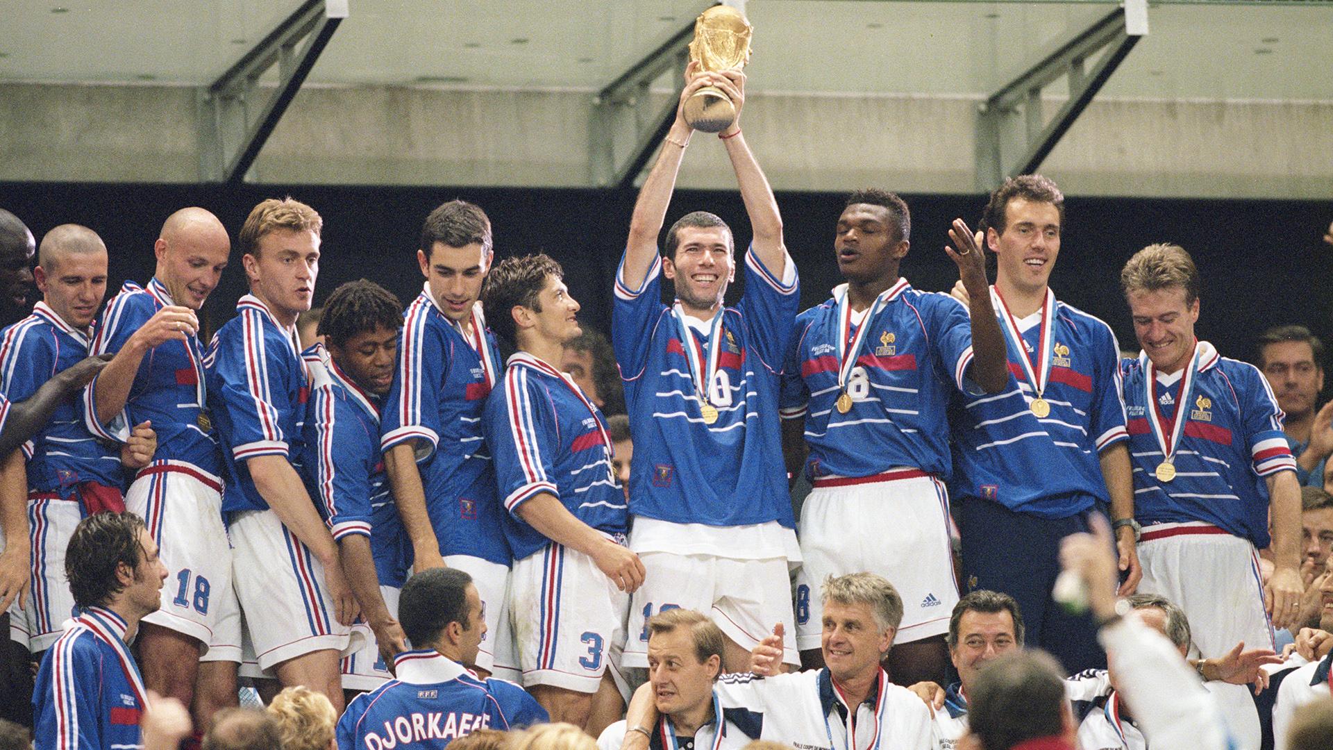 Zinedine Zidane France Brazil World Cup 1998 final