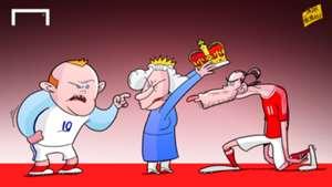 Cartoon Bale the king of britain
