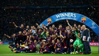 Barcelona Champions League trophy