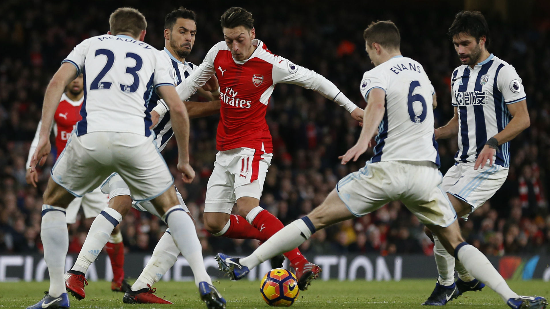 Mesut Ozil Arsenal West Brom 26122016