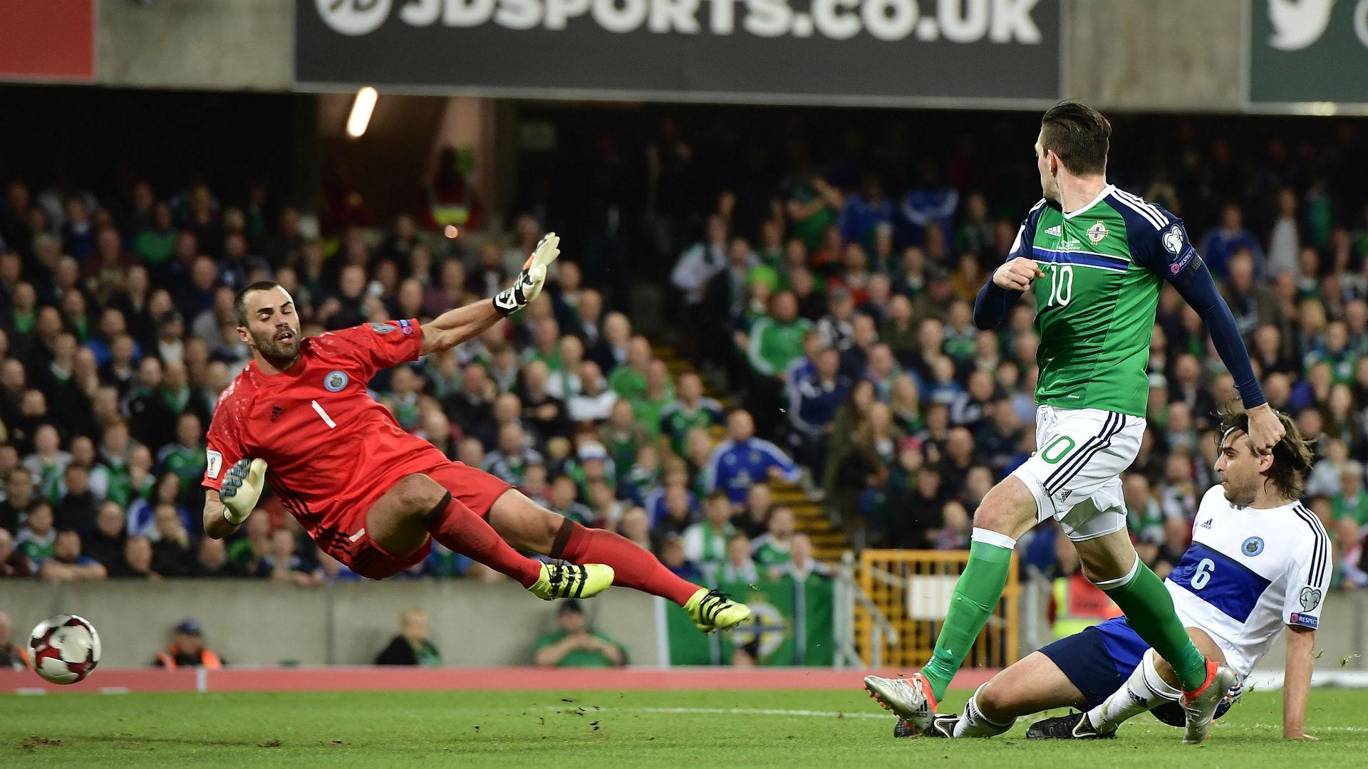Kyle Lafferty Northern Ireland v San Marino 081016