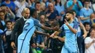 Kelechi Iheanacho Sergio Aguero Manchester City Borussia Monchengladbach