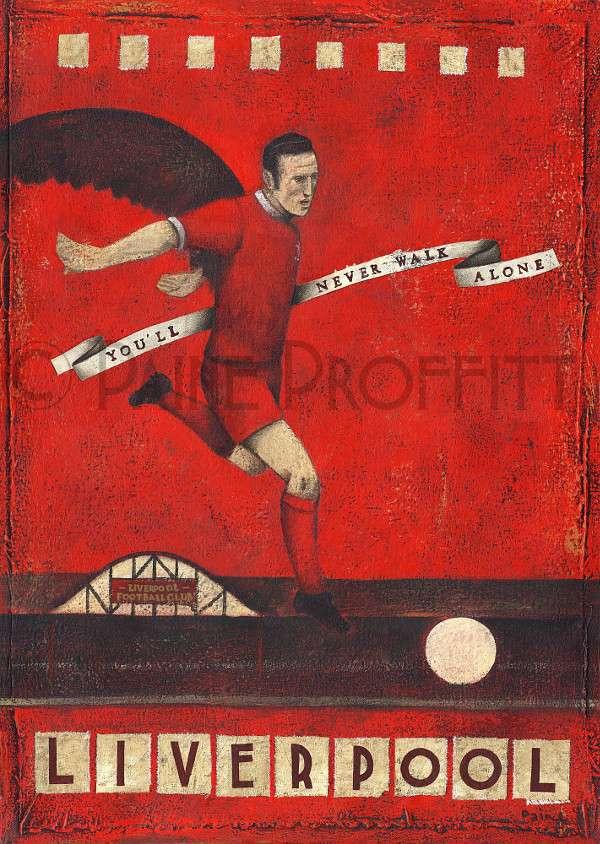 Liverpool Vintage football posters