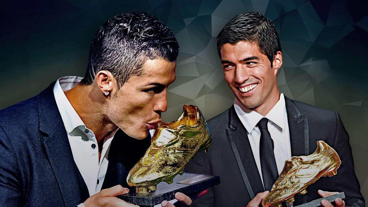 Golden Shoe Cristiano Ronaldo Luis Suarez