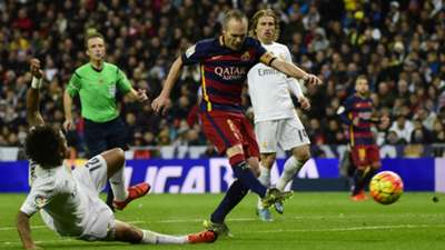Iniesta goal Real Madrid Barcelona November 2015