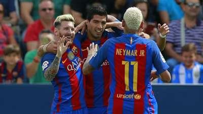 Lionel Messi Luis Suarez Neymar Barcelona 2016