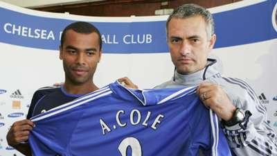 Ashley Cole Jose Mourinho Chelsea 2006