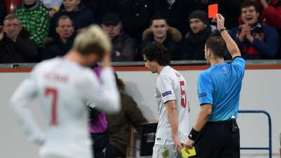 Tiago Red Card Atletico Madrid Bayer Leverkusen Champions League 25022015