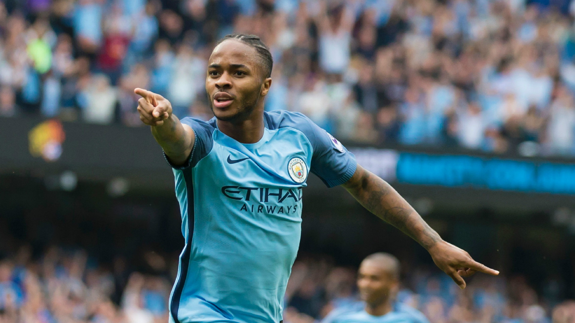 Man Citys Sterling Happy To Be In The Company Of Barcelona