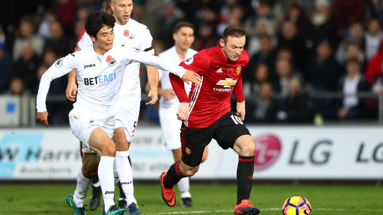 Wayne Rooney Swansea City Manchester United