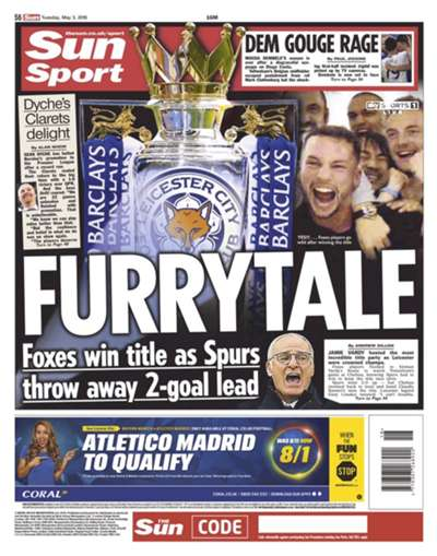 The world's press reacts to Leicester winning the Premier League